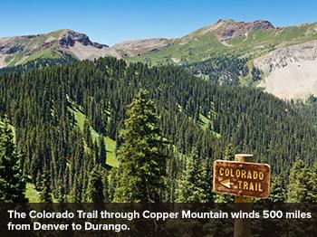 Colorado trail through Copper Mountain